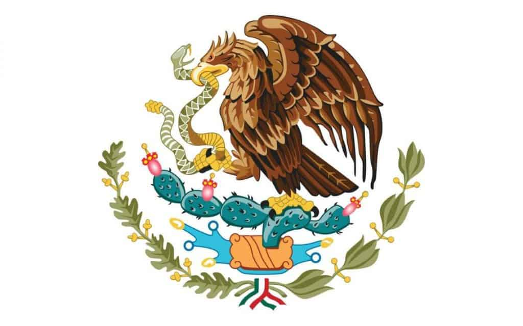 bandera de mexico que significa el escudo y su origen
